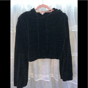 Black soft cropped sweater